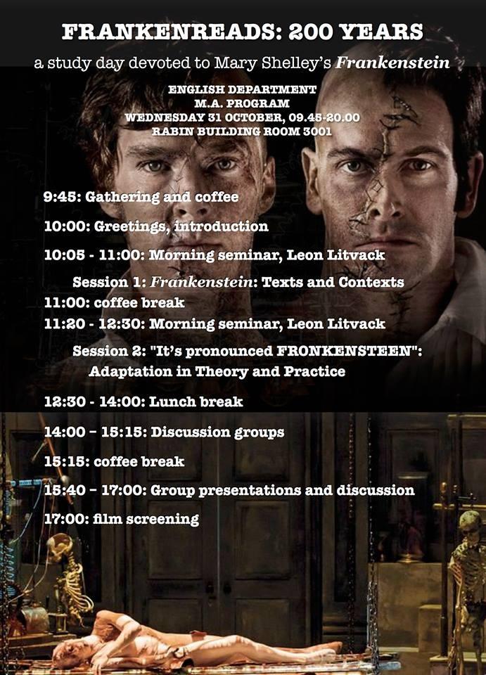 Frankenstein Study Day