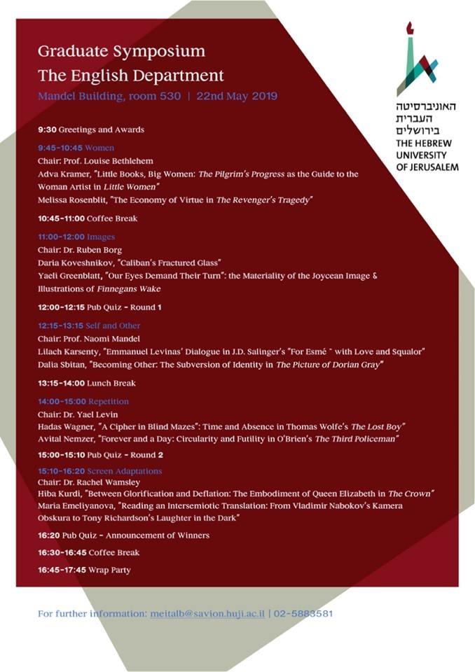 Graduate Symposium Program